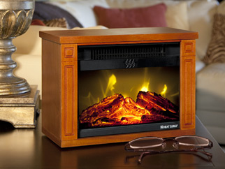 Heat Surge Electric Fireplace Center