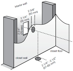 central vacuum tubing in closet